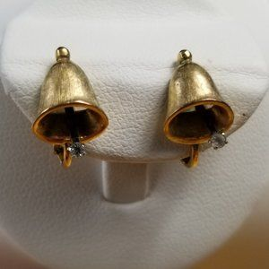Vintage Signed Avon Delicate Bell Clip On Earrings